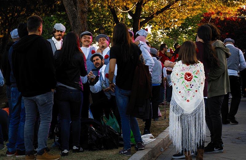 Chulapos posando, Madrid 2018